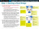 step 1 electing a root bridge