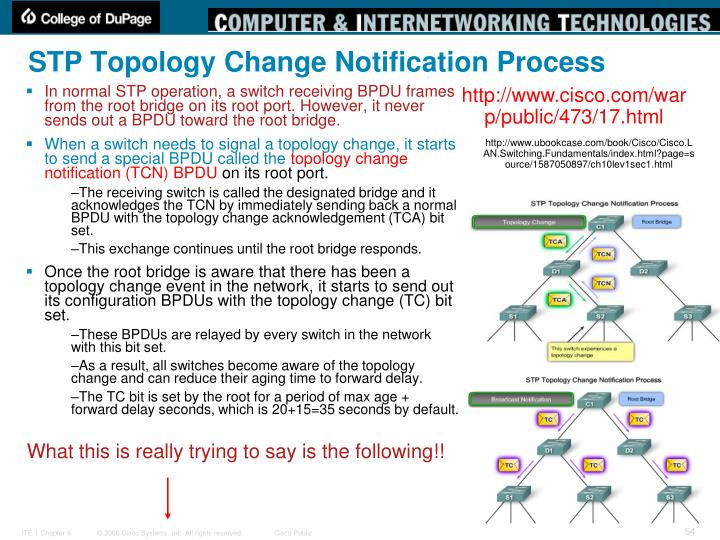 STP Topology Change Notification Process