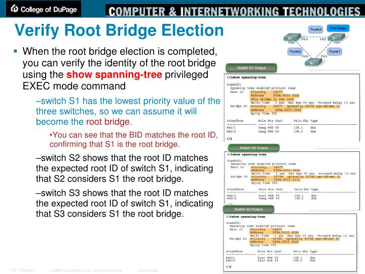 Verify Root Bridge Election