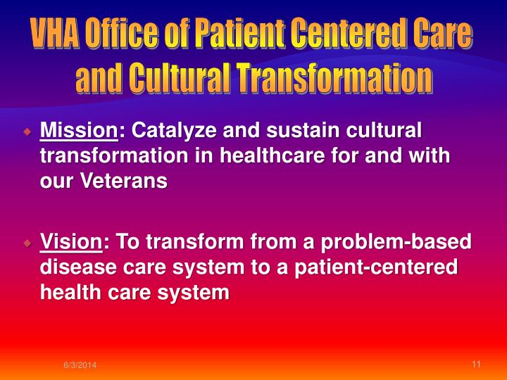 VHA Office of Patient Centered Care