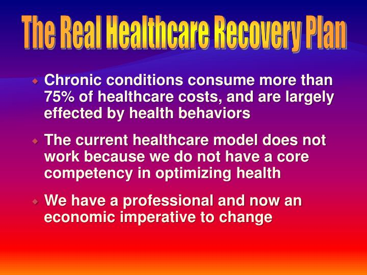 The Real Healthcare Recovery Plan