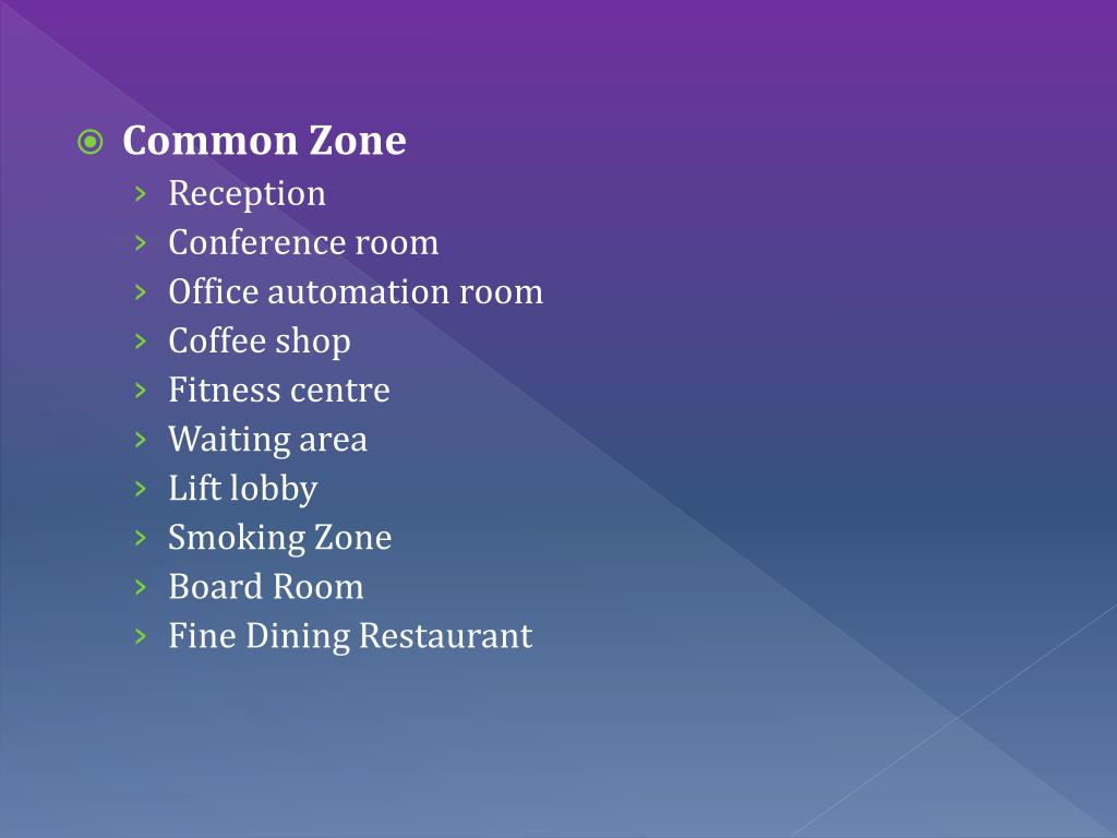 Common Zone