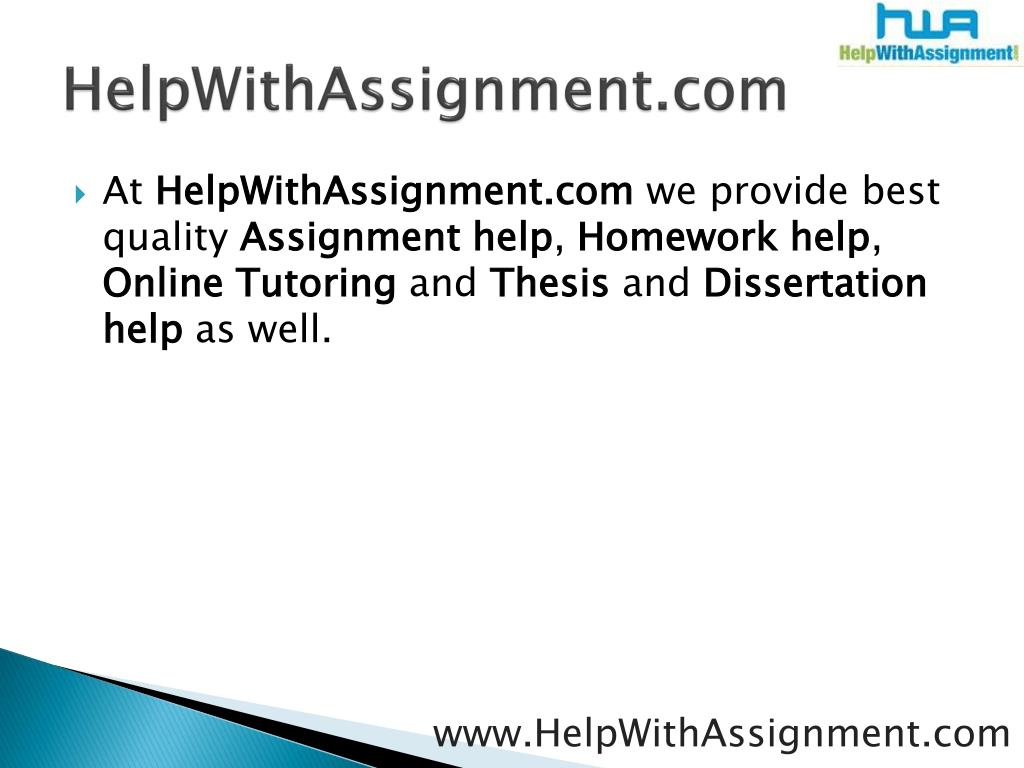 HelpWithAssignment.com