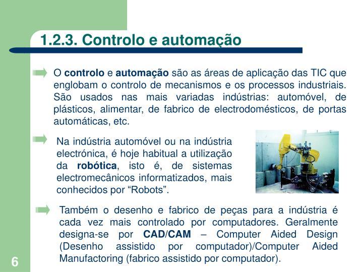 1.2.3. Controlo e automação