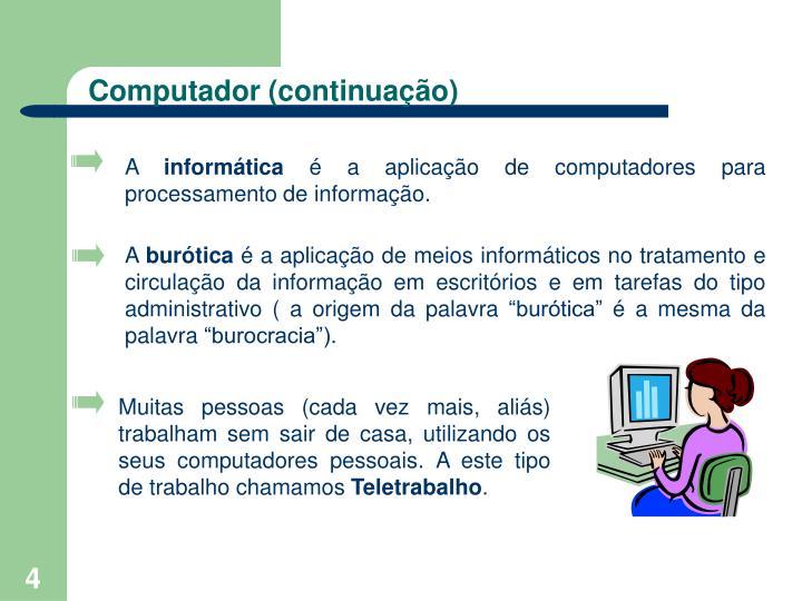 Computador (continuação)