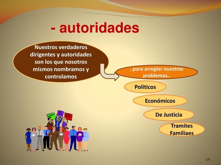 - autoridades