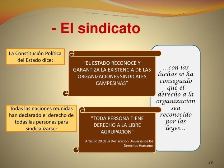 - El sindicato
