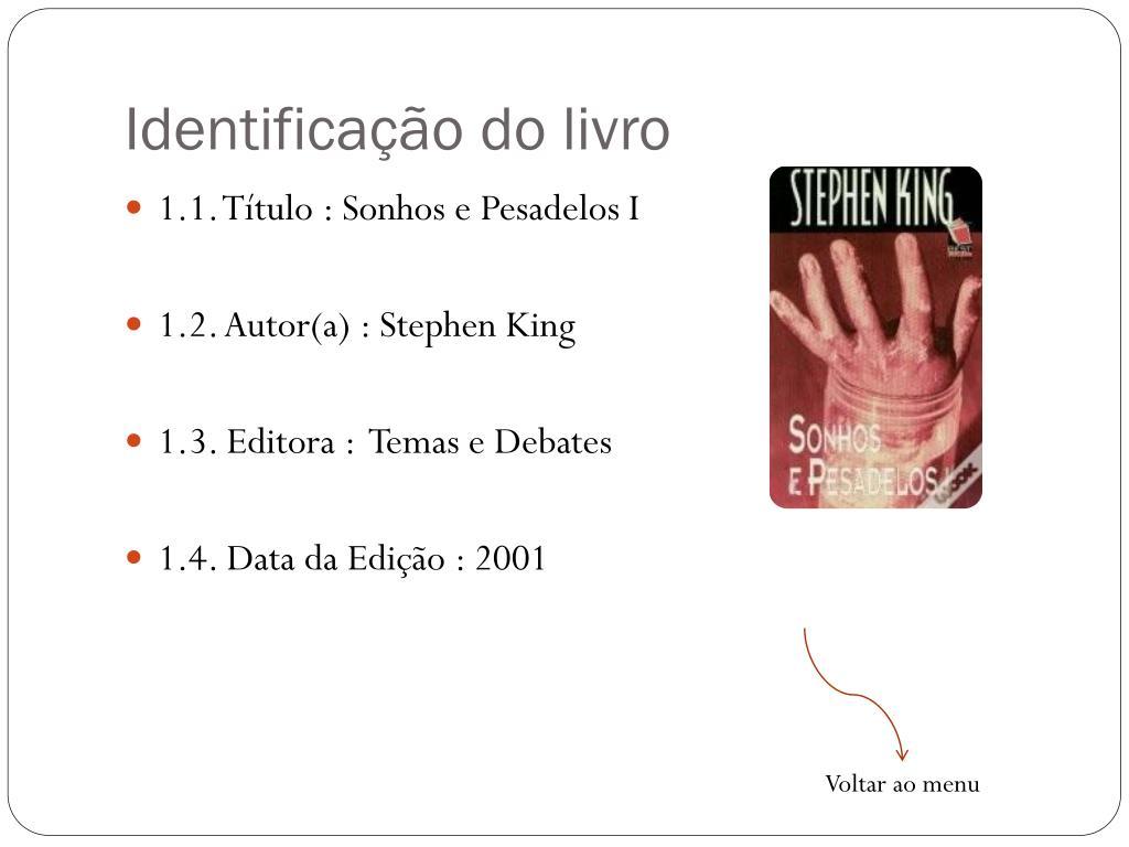 Identificação do livro
