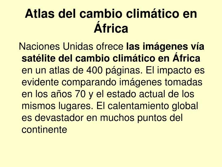 Atlas del cambio climático en África