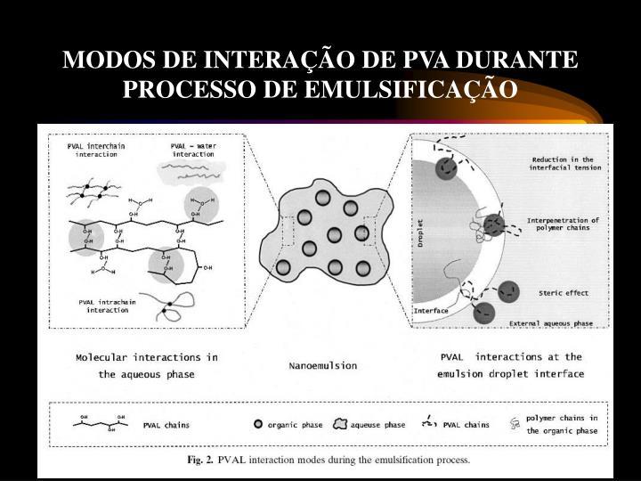 MODOS DE INTERAÇÃO DE PVA DURANTE