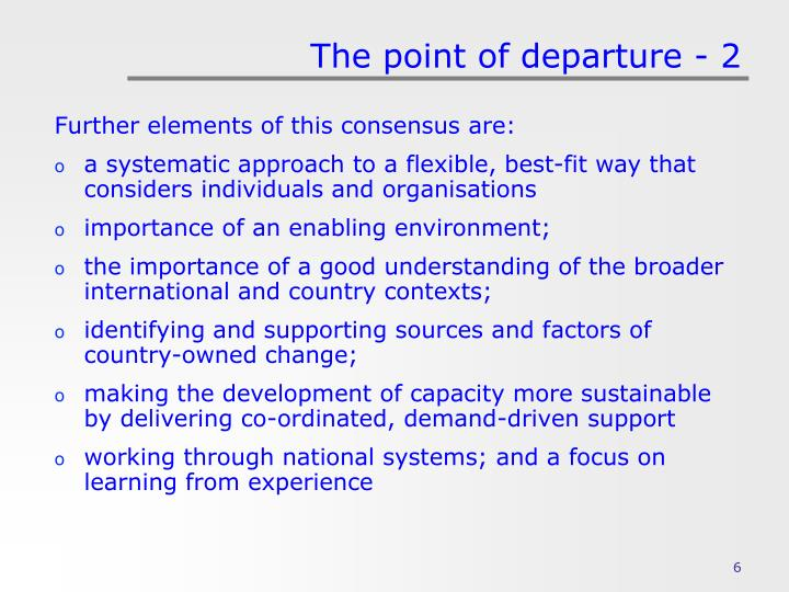 The point of departure - 2