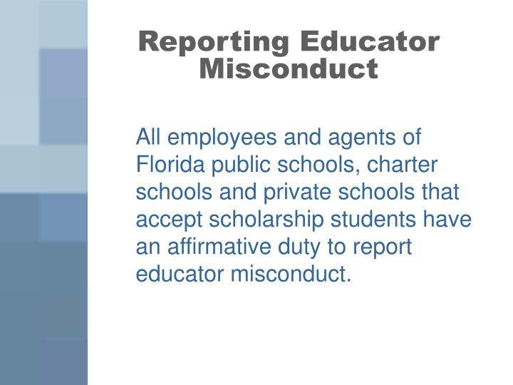 Reporting Educator Misconduct