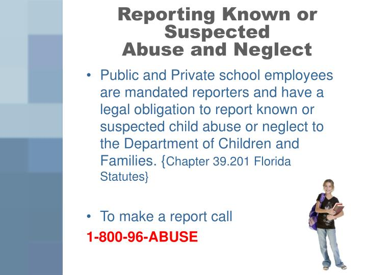 Reporting Known or Suspected