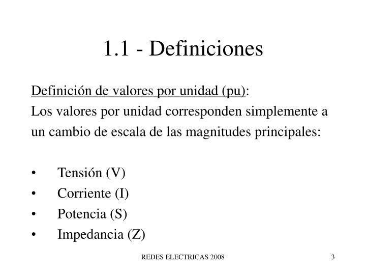 1.1 - Definiciones