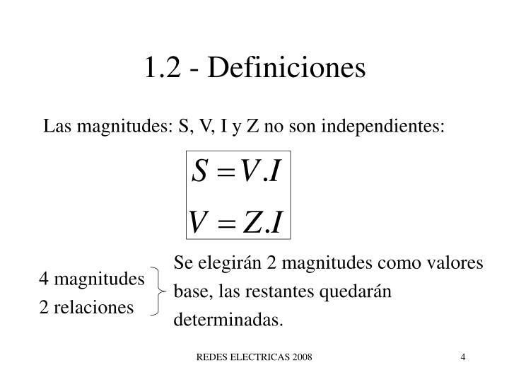 1.2 - Definiciones