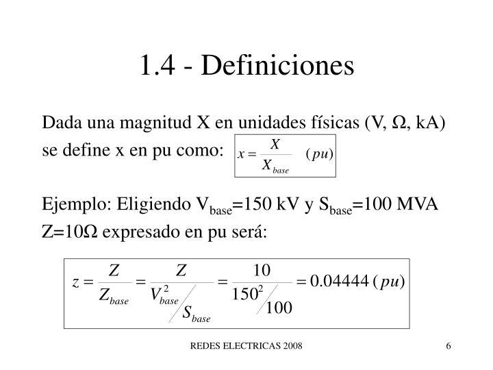 1.4 - Definiciones