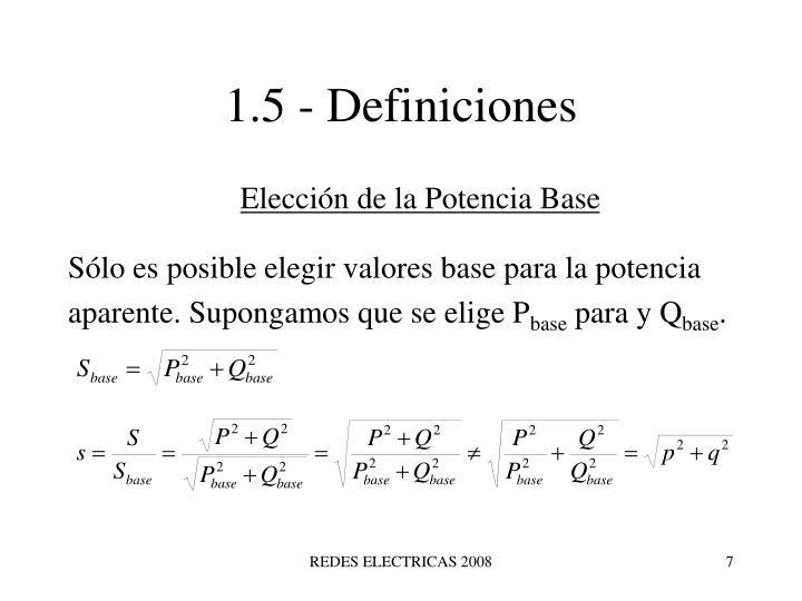 1.5 - Definiciones