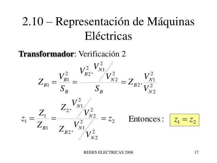 2.10 – Representación de Máquinas Eléctricas