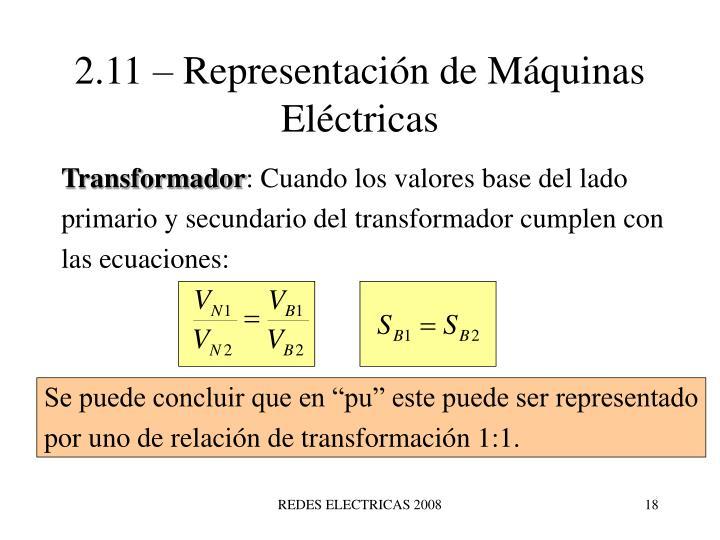 2.11 – Representación de Máquinas Eléctricas