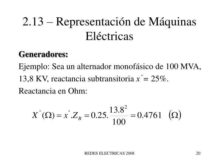 2.13 – Representación de Máquinas Eléctricas