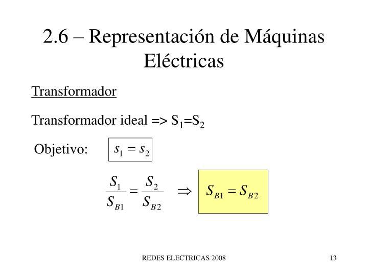 2.6 – Representación de Máquinas Eléctricas