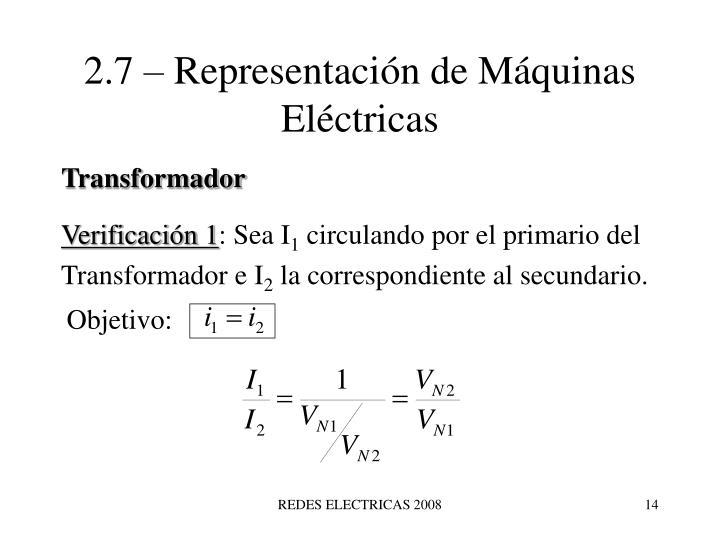 2.7 – Representación de Máquinas Eléctricas