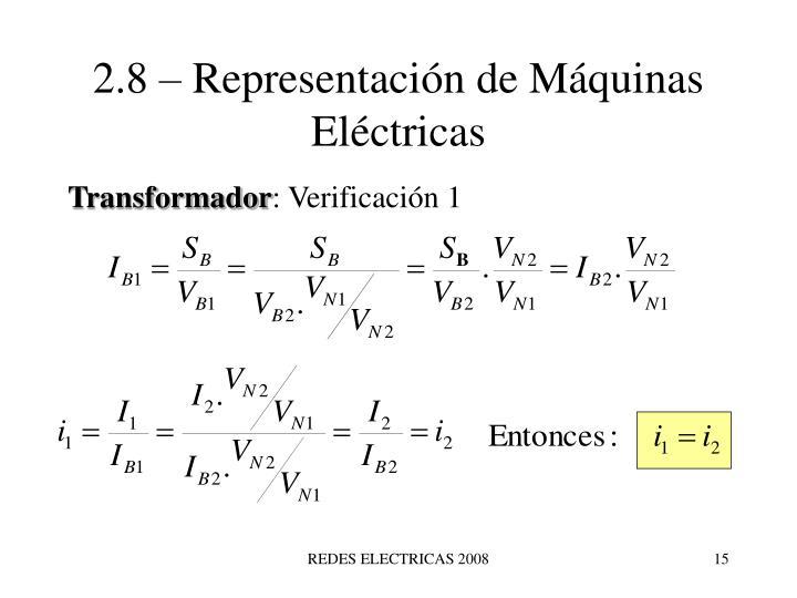 2.8 – Representación de Máquinas Eléctricas