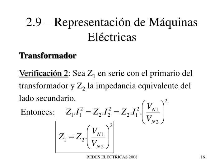 2.9 – Representación de Máquinas Eléctricas