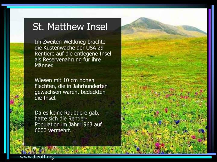 St. Matthew Insel