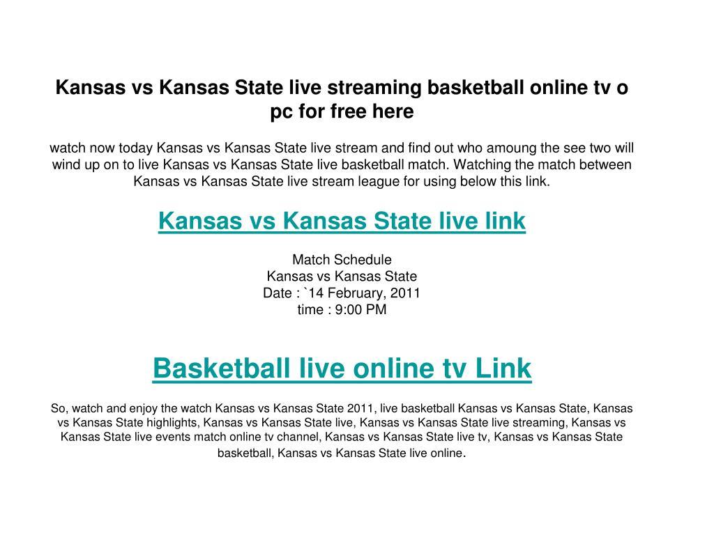 Kansas vs Kansas State live streaming basketball online tv o pc for free here