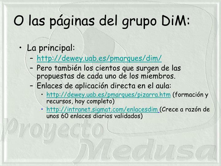 O las páginas del grupo DiM: