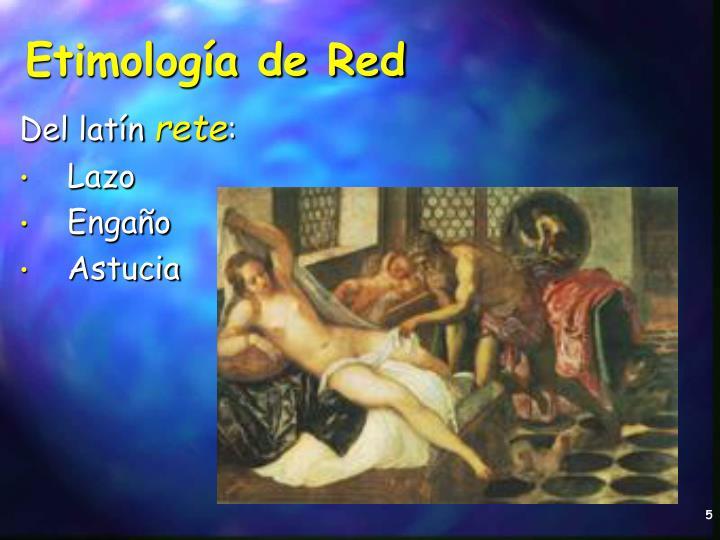 Etimología de Red