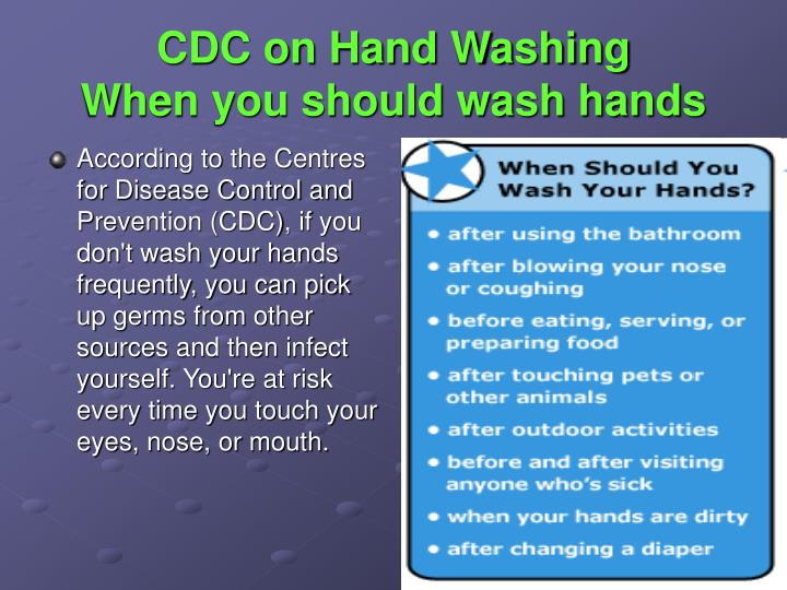 CDC on Hand Washing
