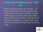 global hand washing day 2009 will