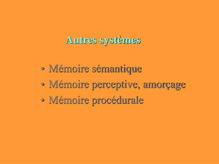 Autres systèmes