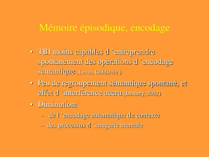 Mémoire épisodique, encodage