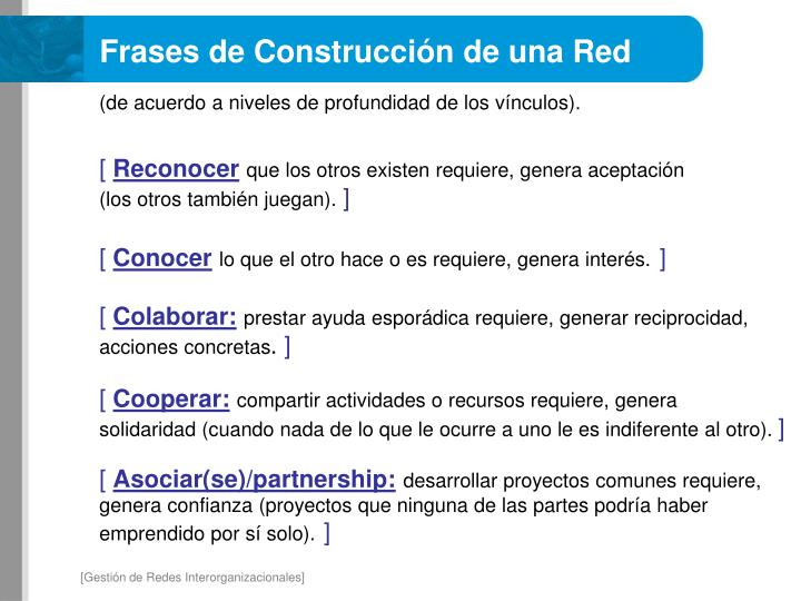 Frases de Construcción de una Red