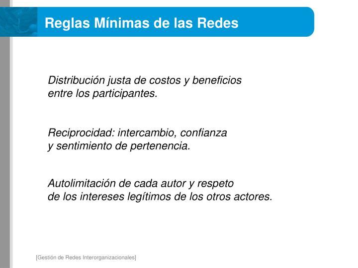 Reglas Mínimas de las Redes