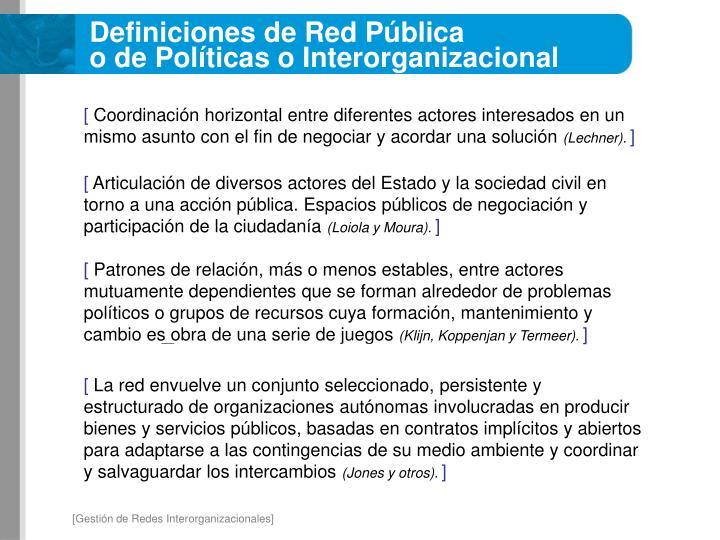 Definiciones de Red Pública