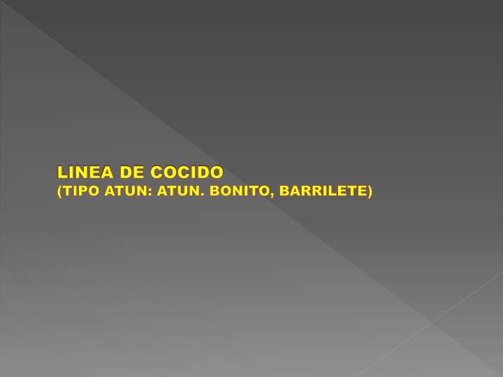 LINEA DE COCIDO
