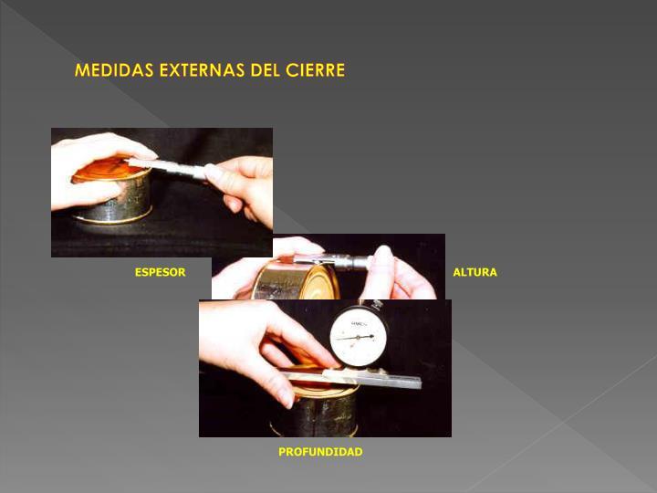 MEDIDAS EXTERNAS DEL CIERRE