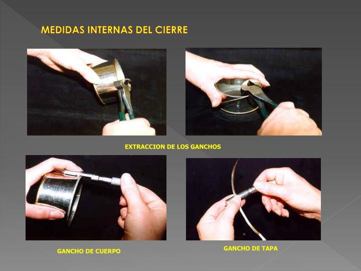 MEDIDAS INTERNAS DEL CIERRE