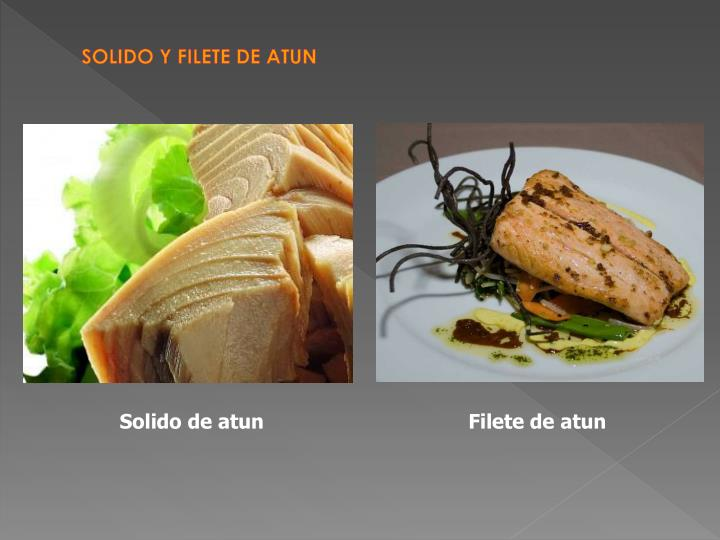 SOLIDO Y FILETE DE ATUN