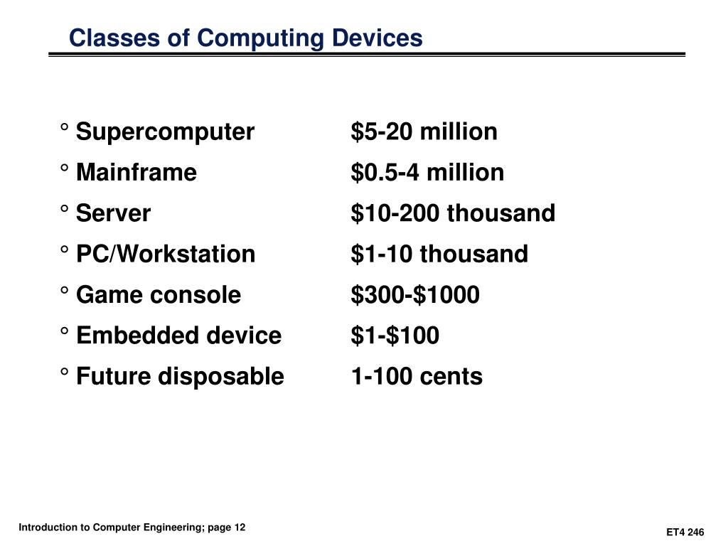 Classes of Computing Devices