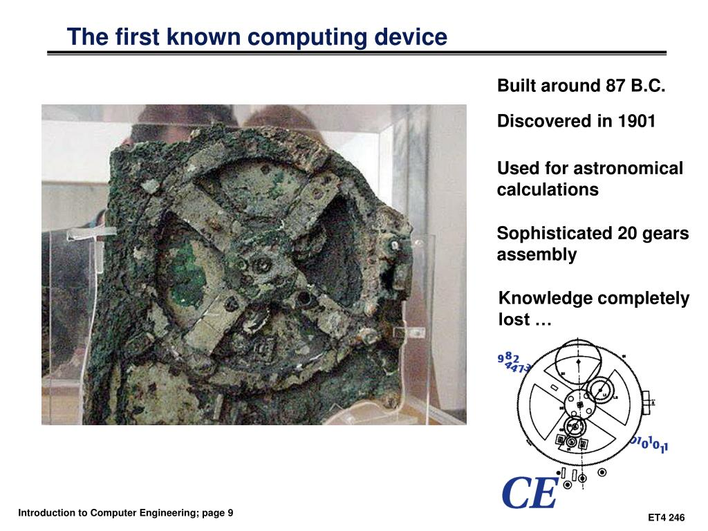 The first known computing device