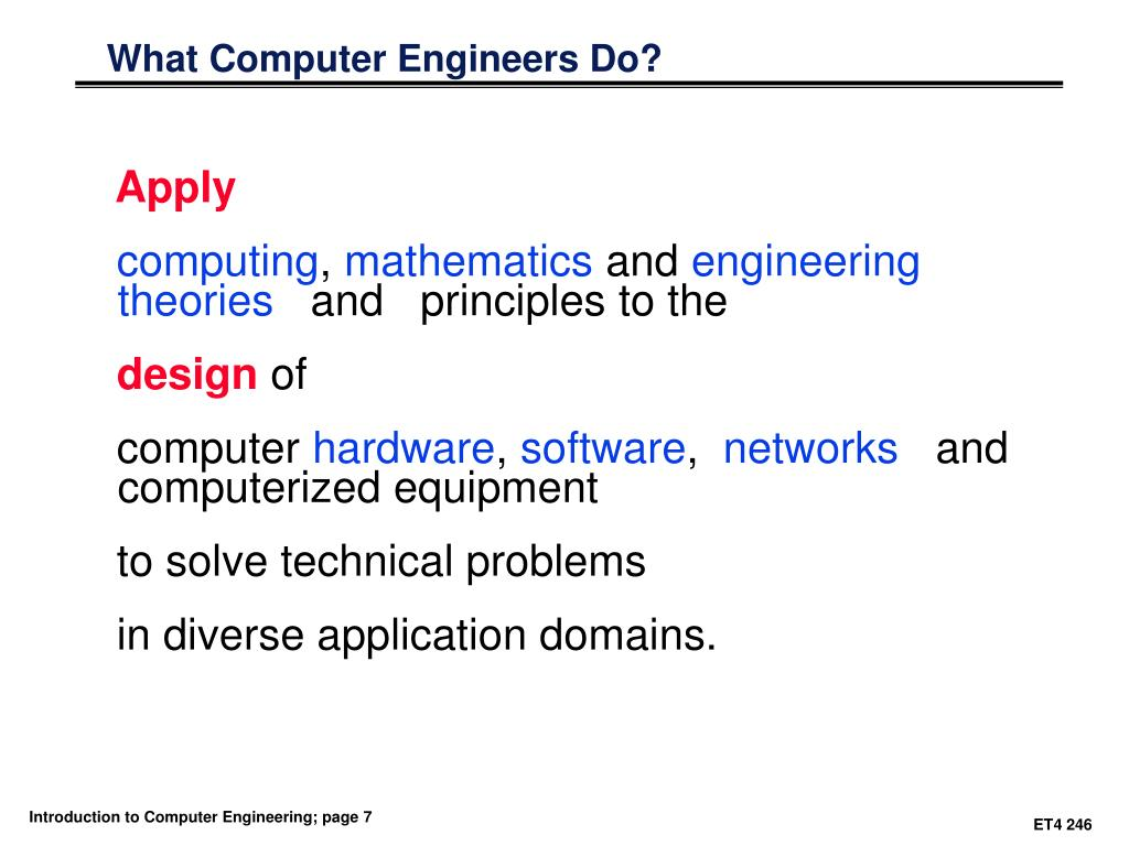What Computer Engineers Do?
