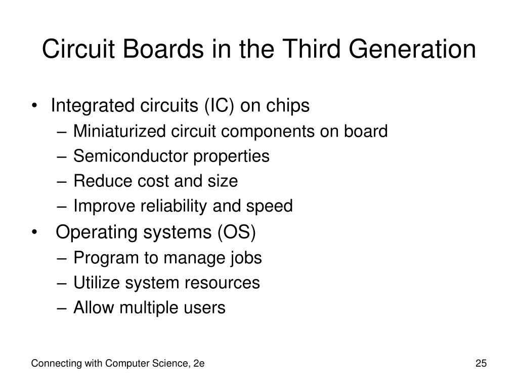 Circuit Boards in the Third Generation
