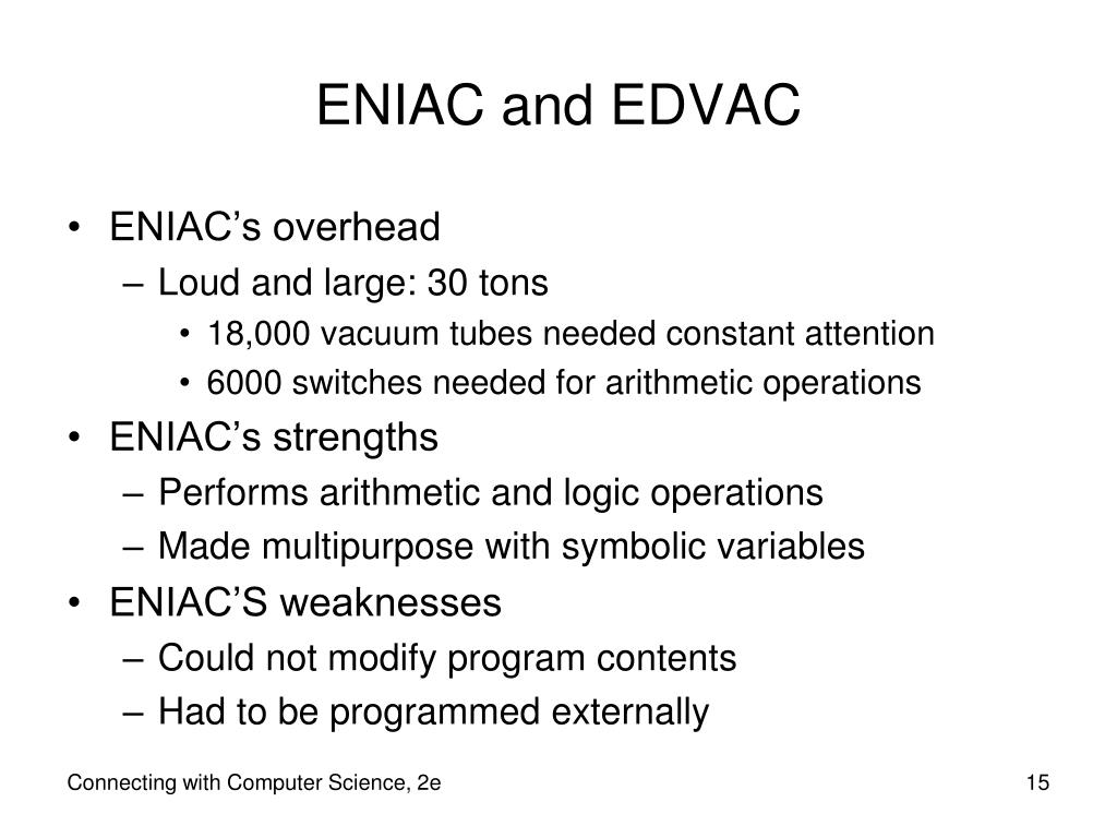 ENIAC and EDVAC