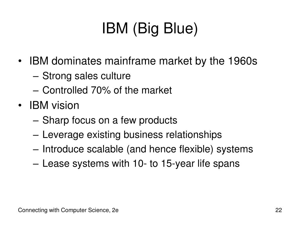 IBM (Big Blue)