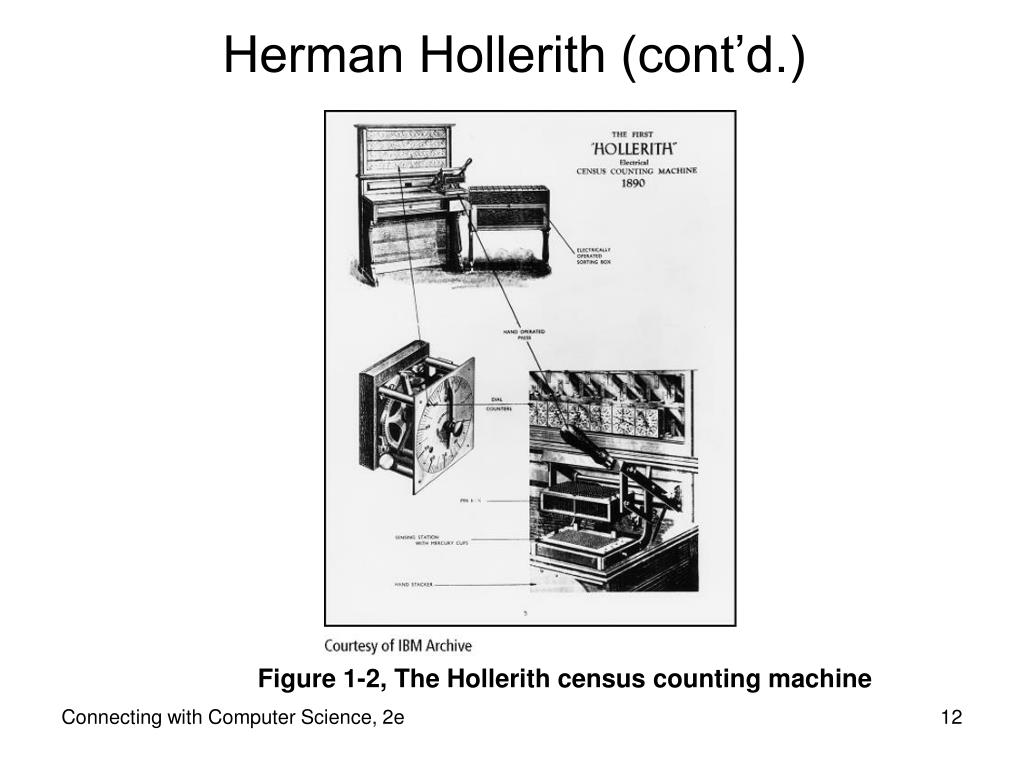 Herman Hollerith (cont'd.)
